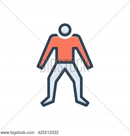 Color Illustration Icon For Human Human-being Psyche Persona Personality