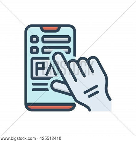 Color Illustration Icon For Payment Salary Pay Wage Emolument Pay-packet