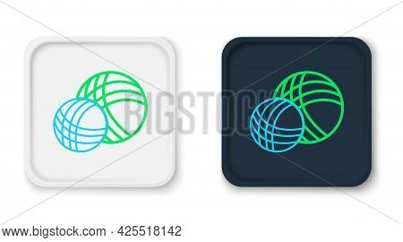 Line Yarn Ball Icon Isolated On White Background. Label For Hand Made, Knitting Or Tailor Shop. Colo