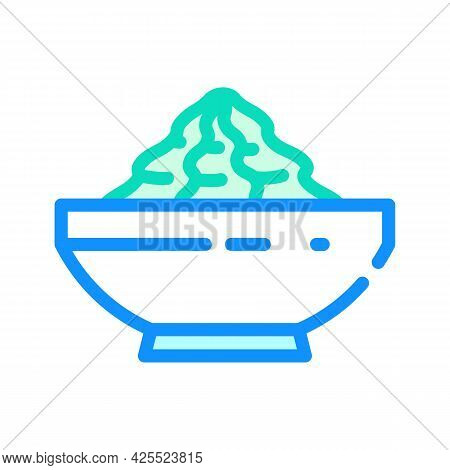 Wasabi Sauce Color Icon Vector. Wasabi Sauce Sign. Isolated Symbol Illustration