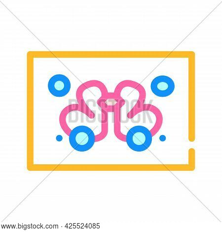 Rorschach Test Color Icon Vector. Rorschach Test Sign. Isolated Symbol Illustration