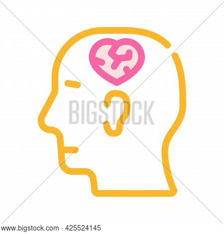Relationship Psychology Color Icon Vector. Relationship Psychology Sign. Isolated Symbol Illustratio