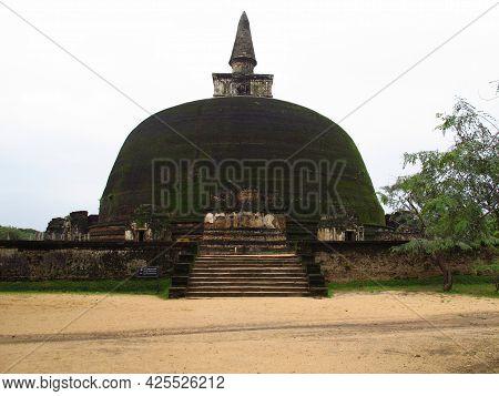 The Ancient Stupa In Polonnaruwa, Sri Lanka
