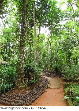 Kandy, Sri Lanka - 07 Jan 2011: Spice Garden Close Kandy, Sri Lanka