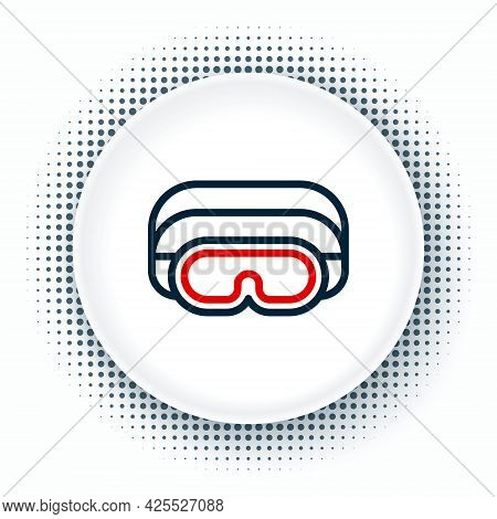 Line Ski Goggles Icon Isolated On White Background. Extreme Sport. Sport Equipment. Colorful Outline