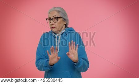 I Dont Know What To Say. Confused Mature Old Good-looking Granny Grandmother Feeling Embarrassed Abo