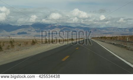 Road Trip To Death Valley, Driving Auto In California, Usa. Hitchhiking Traveling In America. Highwa