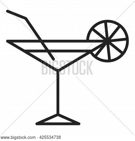Cocktail Icon Isolated. Symbol Of Alcohol Drink