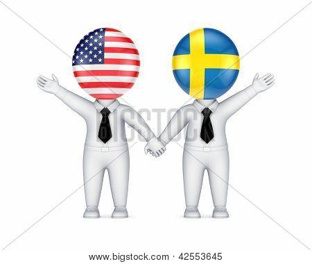 US-Swedish cooperation concept.