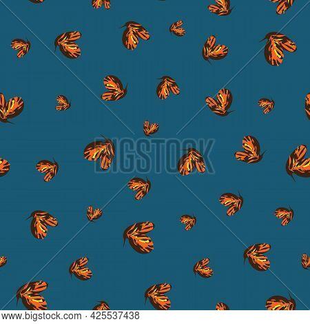 A Monarch Butterfly Flock Seamless Vector Pattern
