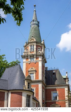 A Xix Century Palace In Pawlowice, Lower Silesia, Poland Eclectic Architecture With Elements Of Baro
