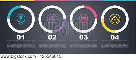 Set Line Gluten Free Grain, Hand Wash Laundry, Delicate And Carton Cardboard Box. Business Infograph