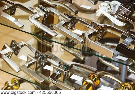 Door Closers In A Specialized Store.