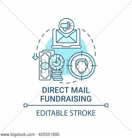 Direct Mail Fundraising Concept Icon. Charity Event Abstract Idea Thin Line Illustration. Building D