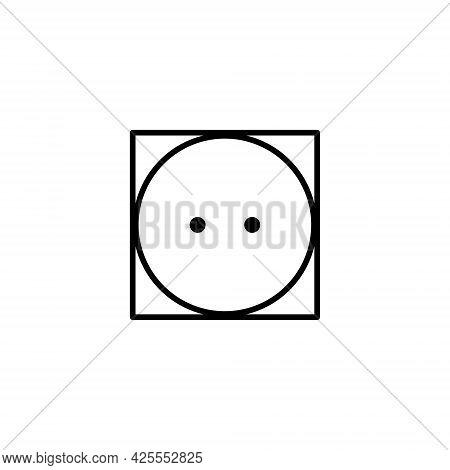 Tumble Dry Icon. Tumble Dry On Medium Heat. Laundry Symbols, Vector Illustration.
