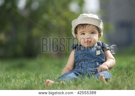 baby on the grass