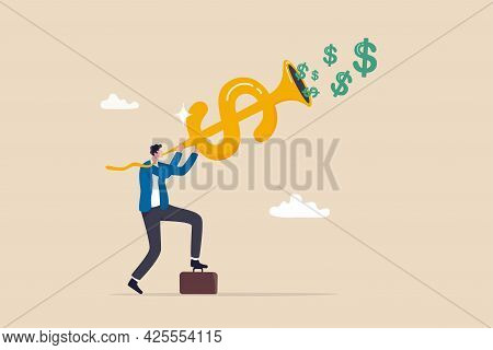 Investment Opportunity, Making Money, Profit Or Earning, Fed Central Bank Signal Interest Rate Polic