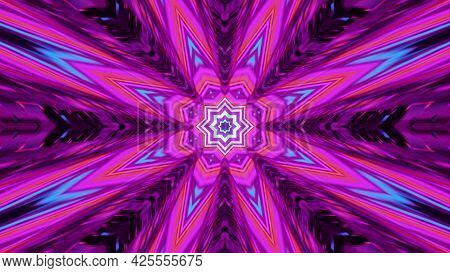 Psychedelic Abstract Ornament 4k Uhd 3d Illustration