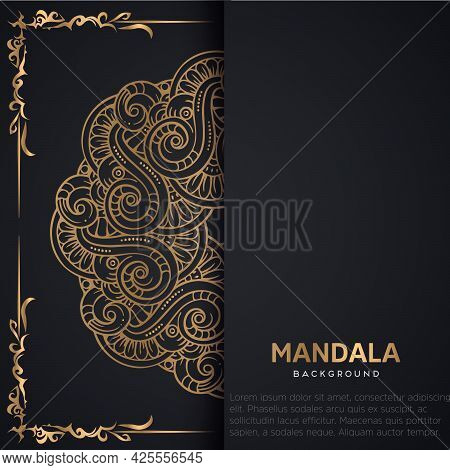 Luxury Mandala Background With Golden Arabesque Pattern Arabic Islamic East Style.decorative Mandala