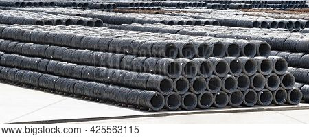 Stack Or Wire Rod In Coil In Warehouse