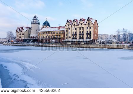 Kaliningrad, Russia, January 29, 2021. Architecture In The German-style