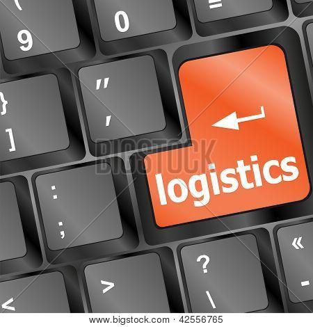 Logistics Words On Laptop Keyboard