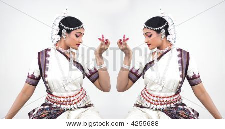 Classical Female Bharathanatyam Dancer