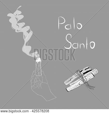 Hand Drawn Sticks Of The Sacred Wood Of Palo Santo