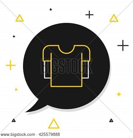 Line Long Sleeve Shirt Icon Isolated On White Background. Colorful Outline Concept. Vector