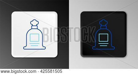 Line Full Sack Icon Isolated On Grey Background. Colorful Outline Concept. Vector