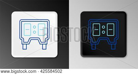 Line Sport Baseball Mechanical Scoreboard And Result Display Icon Isolated On Grey Background. Color