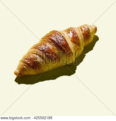 Bakery Products Pattern With Baked Croissant Food Concept