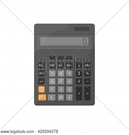 An Illustration With The Image Of A School Calculator. Office Calculator.calculating Machine. Vector