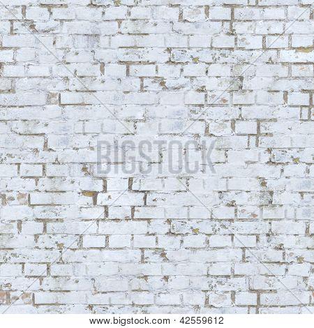 White Brick Wall Texture.