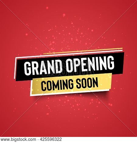 Coming Soon Grand Opening Word Concept Vector Illustration. Coming Soon Grand Opening.