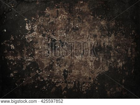 Close Up Grunge Brown Abstract Uneven Background Texture Of Vintage Weathered Corroded Rusty Metal S