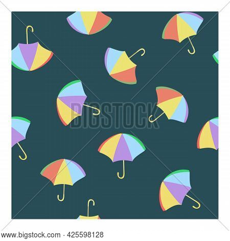 Seamless Vector Pattern About The Weather. For Textiles, Covers, Packaging, Textiles. Colorful Brigh