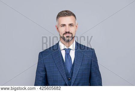 Pure Confidence. Business Success. Successful Man In Businesslike Suit.