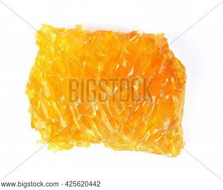 A Honeycomb , Honey Isolated On White Background