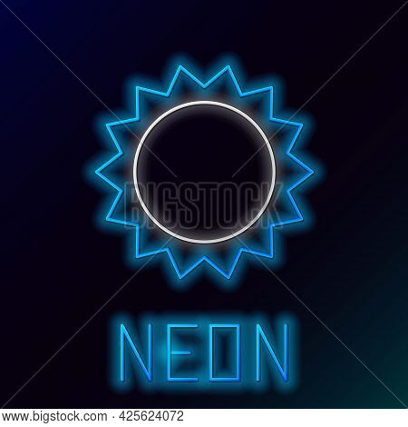 Glowing Neon Line Sun Icon Isolated On Black Background. Summer Symbol. Good Sunny Day. Colorful Out