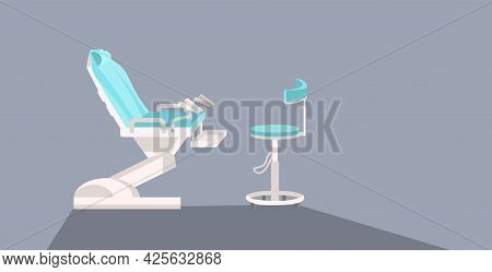 Modern Gynecological Chair Medical Equipment Gynecologist Workplace Healthcare Gynecology Concept Ho