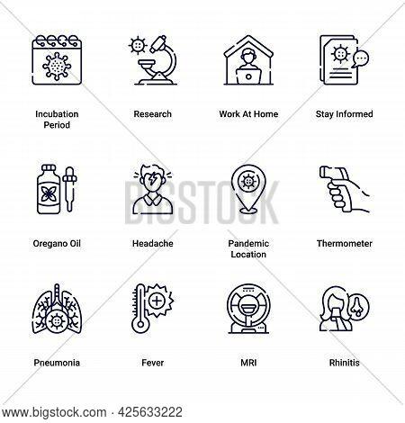 Vector Editable Stroke Line Icons For Practical Tips On Covid19 Coronavirus Contamination Prevention