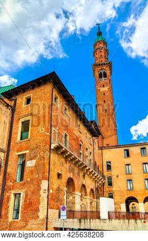 Torre Bissara In Vicenza, Unesco World Heritage In Italy