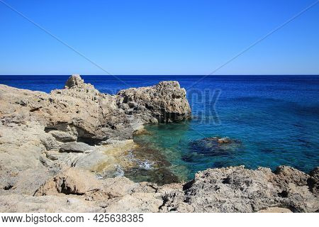 Rocky Sea Coast. A Bay On The Mediterranean Coast.
