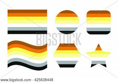 Bear Brotherhood Pride Flag Sexual Identity Pride Flag. Simple Illustration For Pride Month