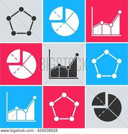 Set Geometric Figure Pentagonal Prism, Graph, Schedule, Chart, Diagram And Graph, Schedule, Chart, D