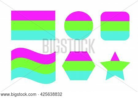Polysexual Pride Flag Sexual Identity Pride Flag. Simple Illustration For Pride Month