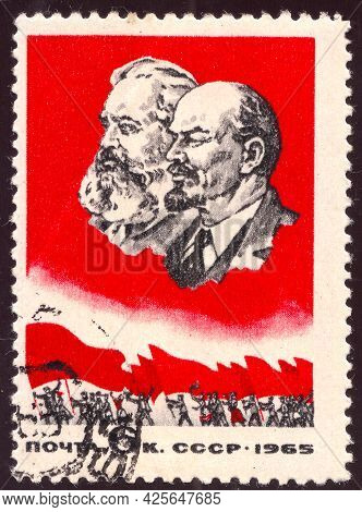 Soviet Union - Circa 1965: Postage Stamp Printed In The Sovit Union, Dedicated To Communist Leaders