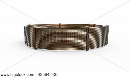 Copper Wire Skein, Isolated Cg Industrial 3d Illustration