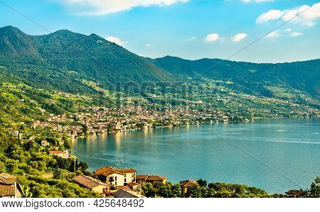 View Of Lake Iseo In Lombardy, Italy